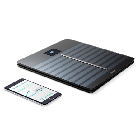 Withings Body Cardio - Heart Health and Body Composition Wi-Fi Scale, Black 70153503 -
