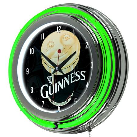 - Guinness Chrome Double Rung Neon Clock