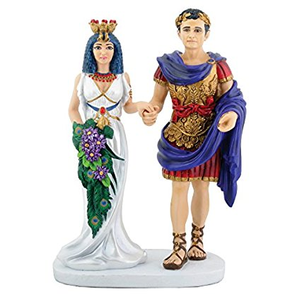 Egyptian Cleopatra with Mark Antony Figurine