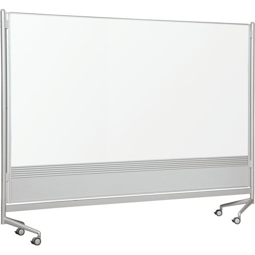 Best-Rite D.O.C. Partition Dura-Rite Free-Standing Reversible Whiteboard, 6' x 8'