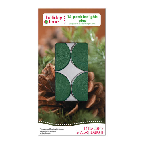 Holiday Time 16-Pack Tealights, Pine