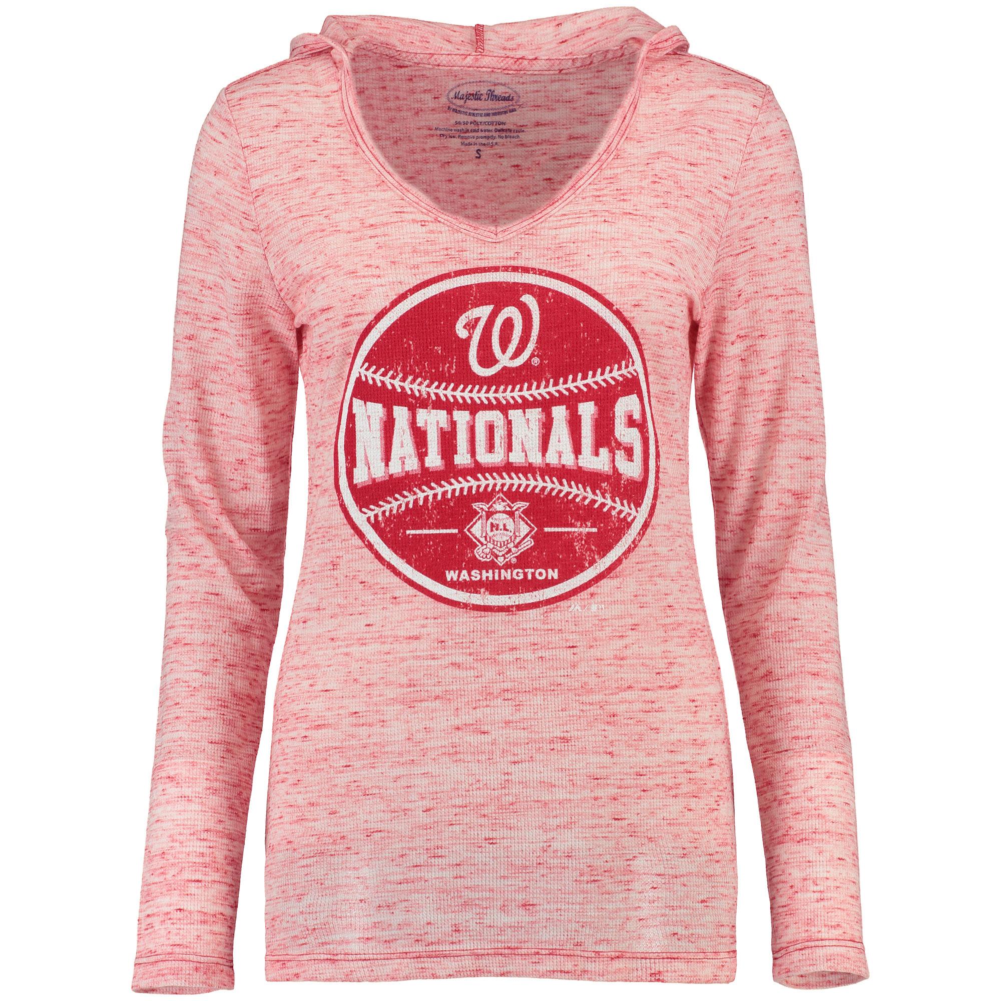 Washington Nationals Women's Thermal Slub Long Sleeve T-Shirt - Natural