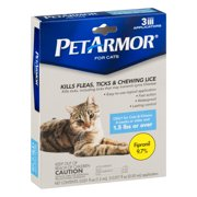 PetArmor Flea, Tick and Lice Treatment for Cats & Kittens, 3 Monthly Applicators