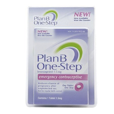 Plan B One-step Emergency Contraceptive 1 Tablet,1.5