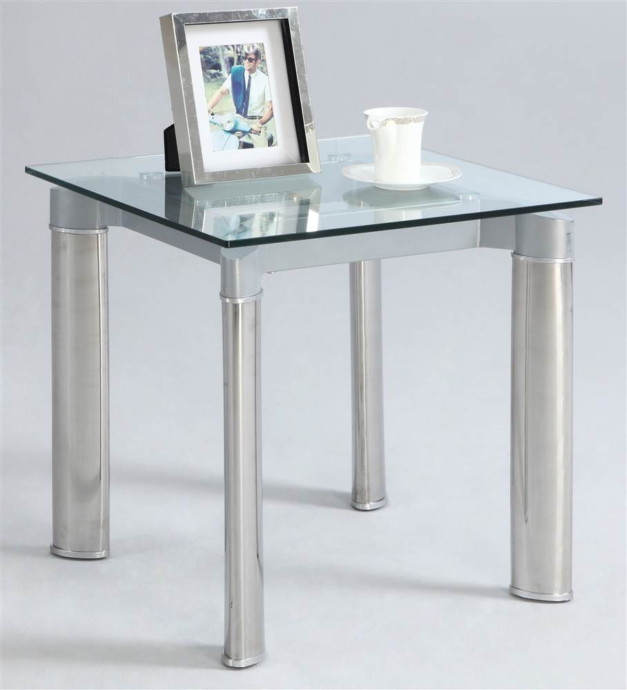 Square Lamp Table by Chintaly Imports