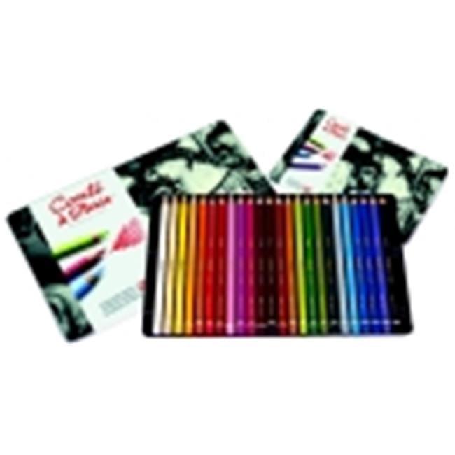 Conte Non-Toxic Wood Pastel Pencil Set, Set 24