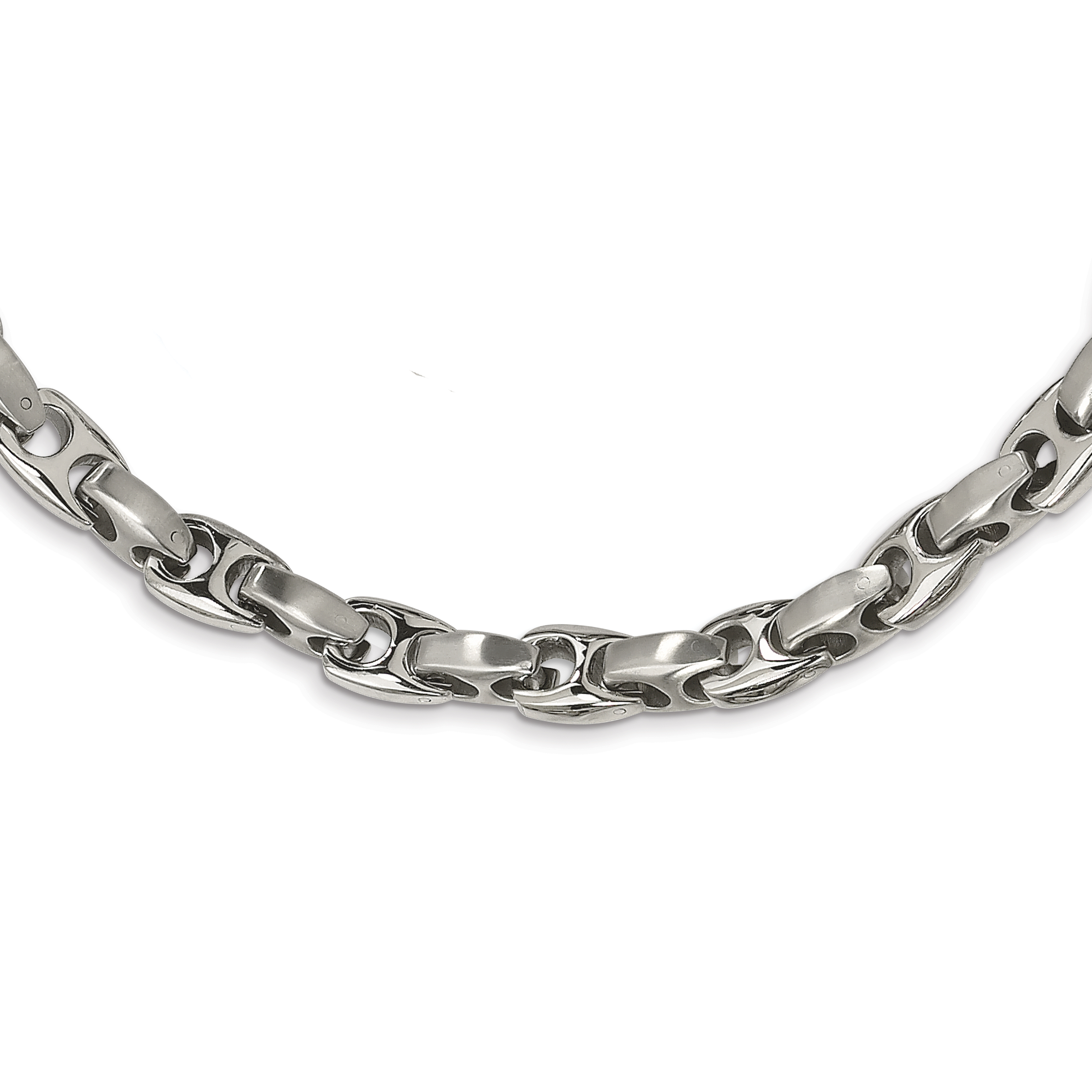 Stainless Steel Brushed 20 Inch Chain Necklace Pendant Charm Anchor Fashion Jewelry Gifts For Women For Her - image 4 of 4