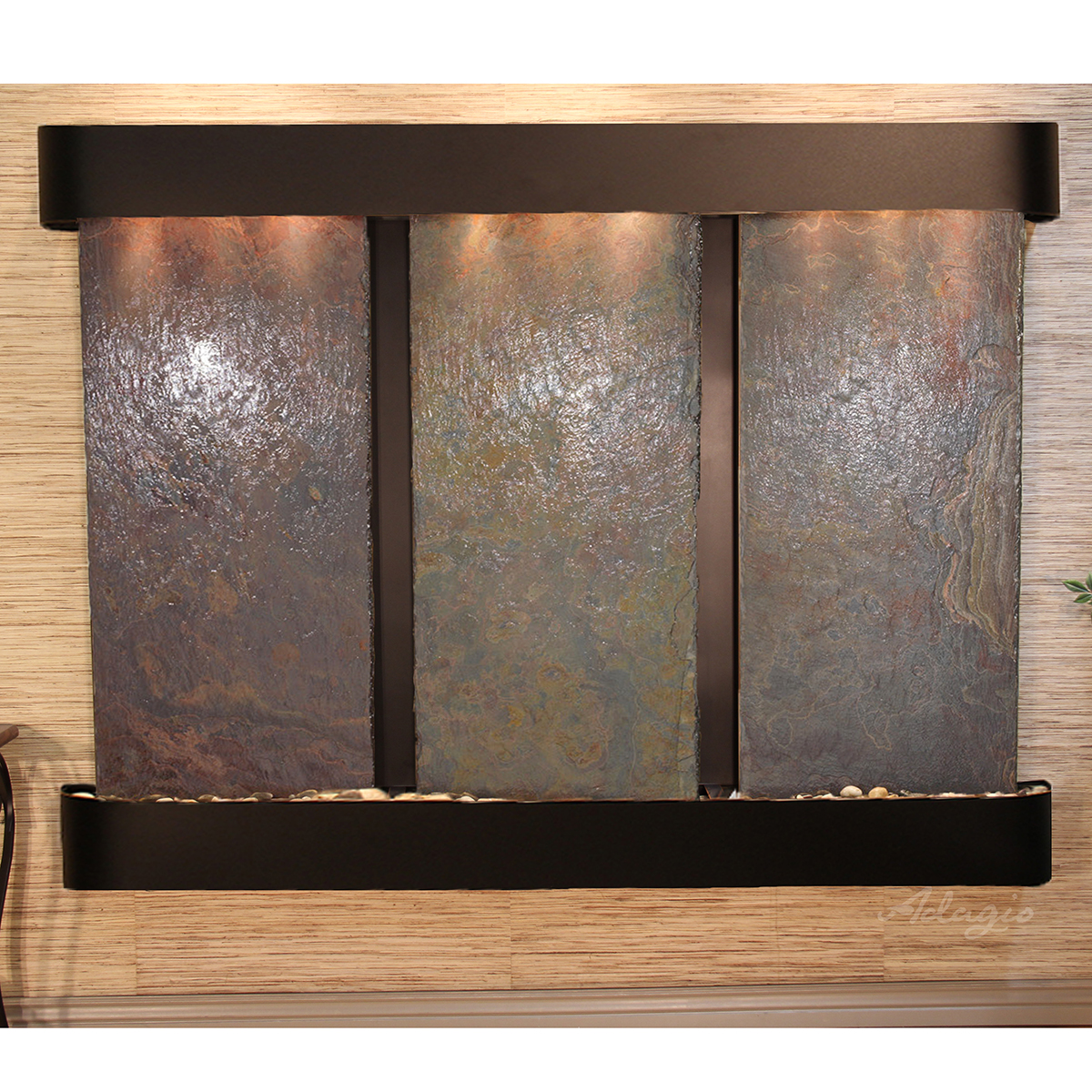 Deep Creek Falls Fountain - Blackened Copper - Rounded Edges - Choose Options