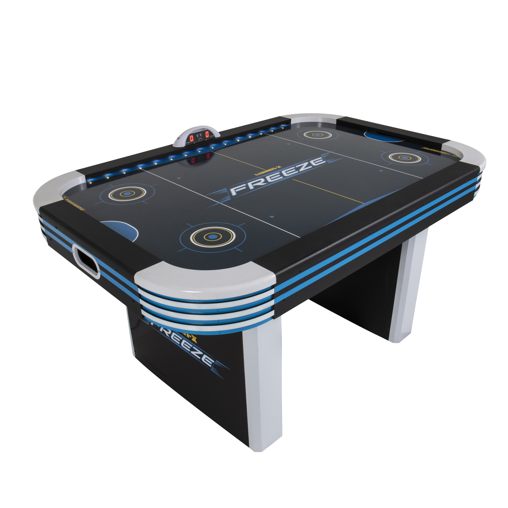 Triumph 5' Lumen-X Freeze LED Light Up Air-Powered Hockey Table Includes 2 LED Pushers and LED Puck