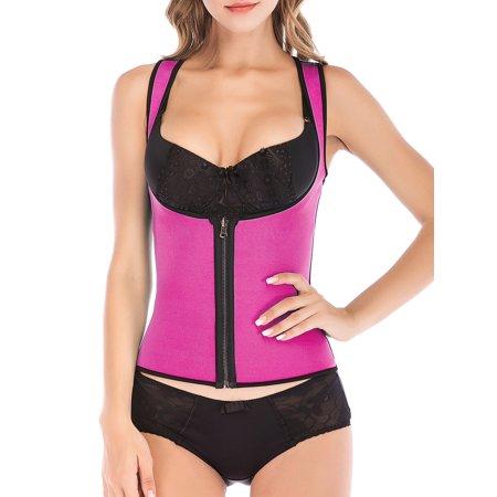 LELINTA Women's Neoprene Hot Sweat Vest Zipper Push Up Shapewear Waist Trainer Slim Yoga shaper - image 4 de 6