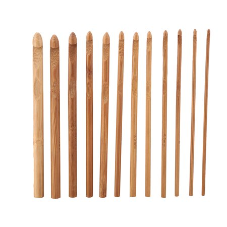 Yosoo 44Pcs Bamboo Circular Crochet Tube Sewing Needle Wood Knitting Tool Set, Crochet Set, Sewing Needle - image 3 of 6