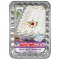 "Handi-Foil ECO-Foil Cook-n-Carry 13"" x 9"" Cake Pan with Lid"