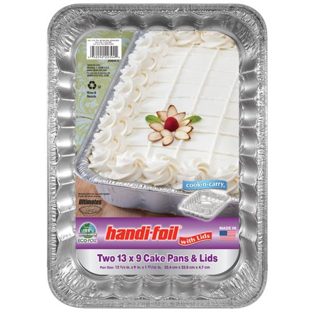 Handi Foil Eco Foil Cook N Carry 13x9 Cake Pan With Lid