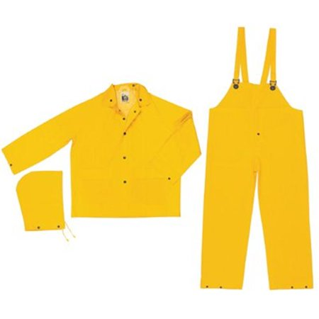 River City 611-2003XL X-Large Rain Suit - Yellow - Spandex Suit Party City