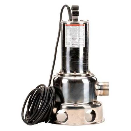 DAYTON Submersible Sewage Pump,1/2 HP 2JGA5