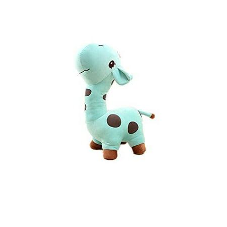 7b739e9ed055 Luk Oil Cartoon Cute Soft Blue Giraffe Plush Toys Stuffed Children's Dolls  for Christmas Birthday Gift 27