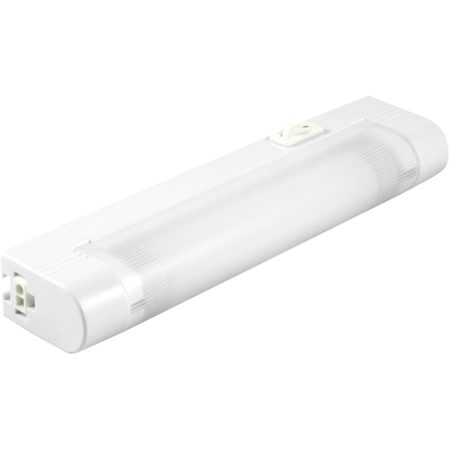 ge slim line 8in fluorescent plug in linkable light fixture 10167 rh walmart com under cabinet fluorescent lighting covers under cabinet fluorescent light fixture 18 white