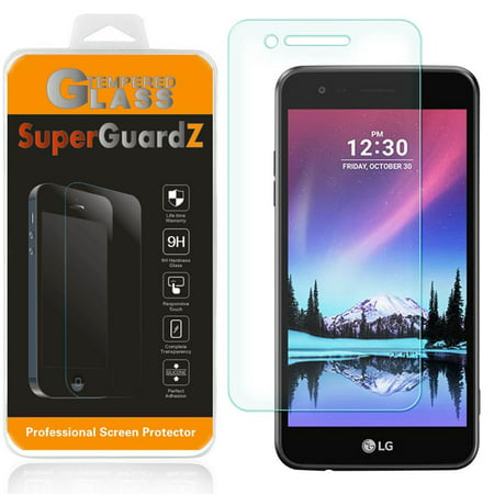 [2-Pack] For LG phoenix 3 / LG K4 (2017) - SuperGuardZ Tempered Glass Screen Protector, 9H, Anti-Scratch, Anti-Bubble, Anti-Fingerprint