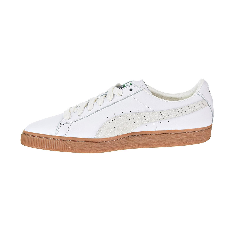 801701cbd98a PUMA - Puma Basket Classic Gum Deluxe Men s Shoes Puma White 365366-01 -  Walmart.com