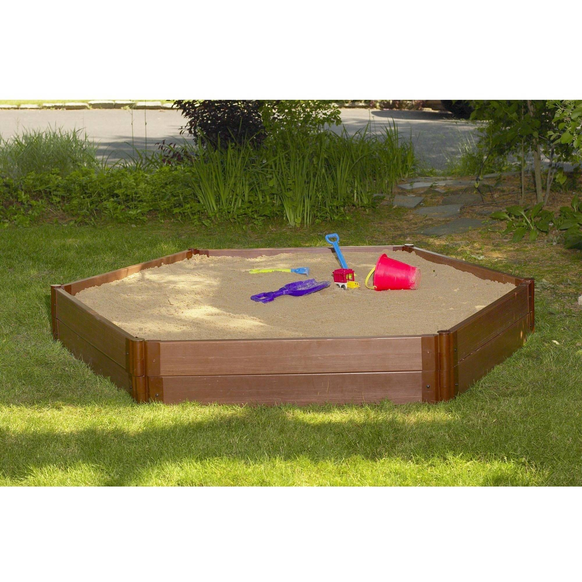 """2"""" Series 7' x 8' x 11 """" Composite Hexagon Sandbox Kit with Cover by Contech"""