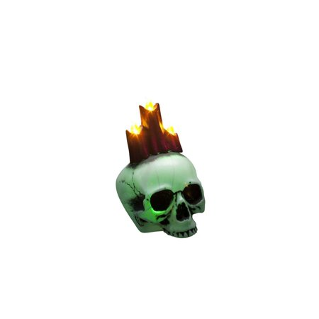 Glow Skull With Candles Halloween Prop Decoration](Halloween Decoration Ideas With Glow Sticks)