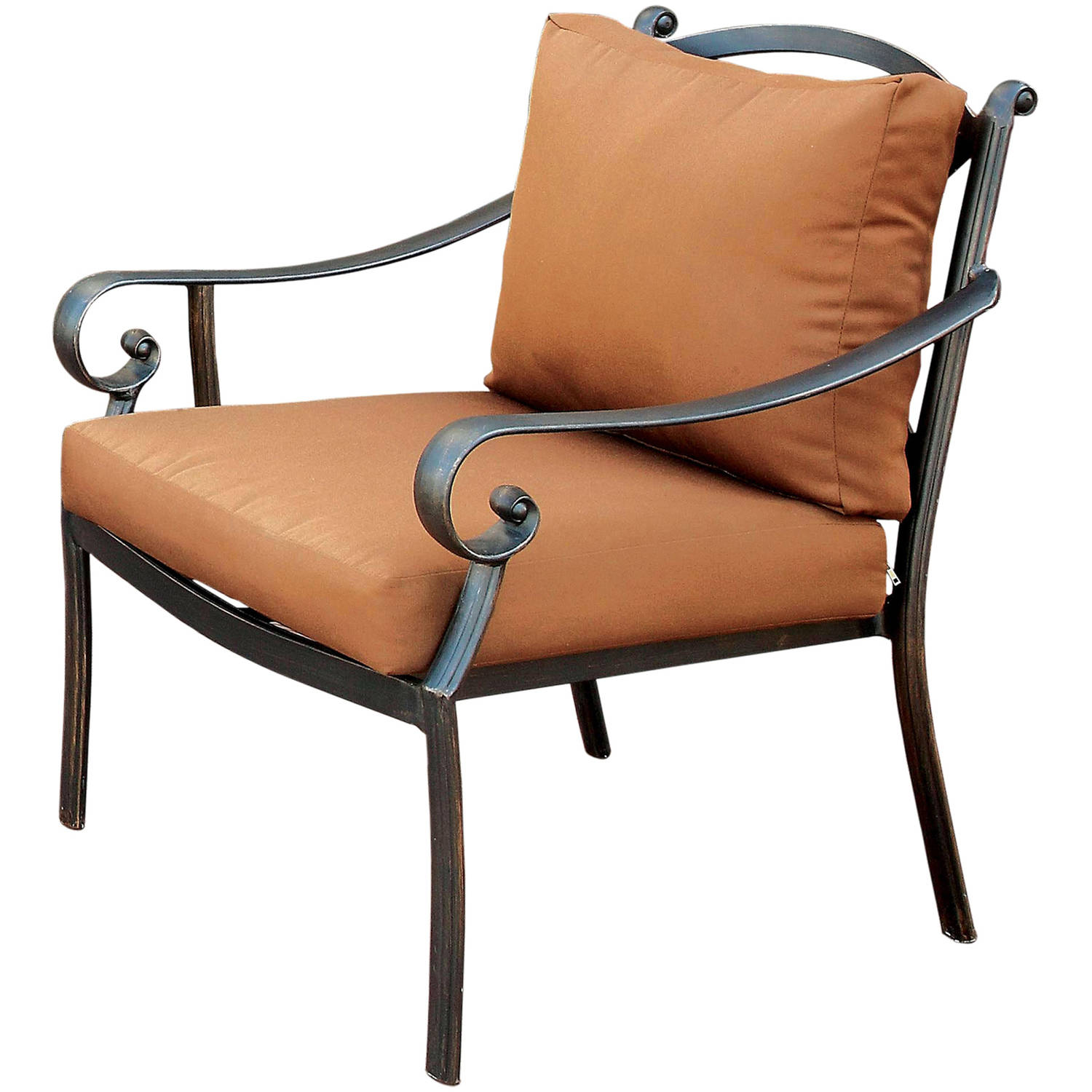 Furniture of America Loreen Contemporary Patio Chair, Distressed Black and Brown