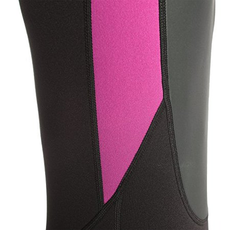 Ivation 3mm Short Wetsuit for Adult - Crafted of Premium Neoprene & Features High - Quality Zipper & Full UV Protection,Pink,Large - image 5 of 8