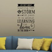 Belvedere Designs LLC Learning To Dance In the Rain Wall Decal