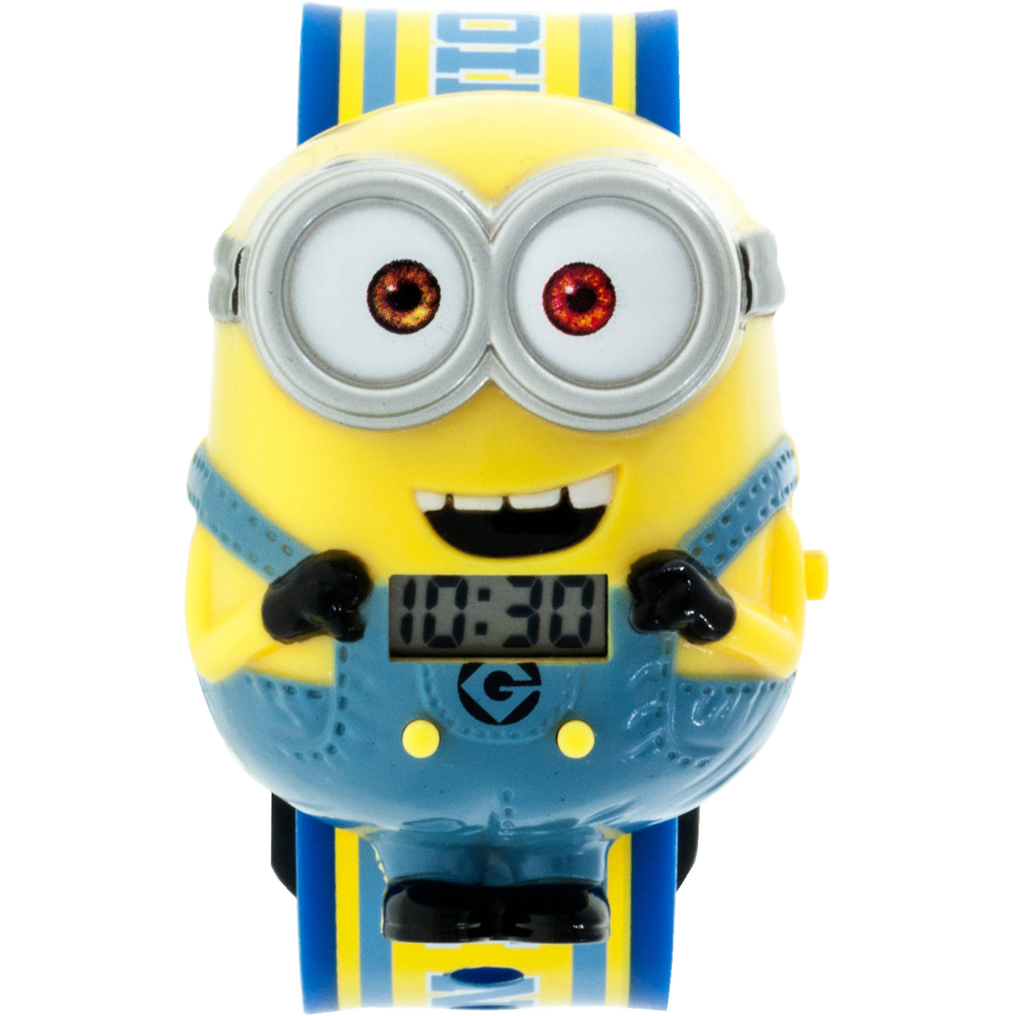 Despicable Me Minions Boys Molded Sound LCD Watch