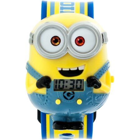 Despicable me minions boys molded sound lcd watch for Despicable watches