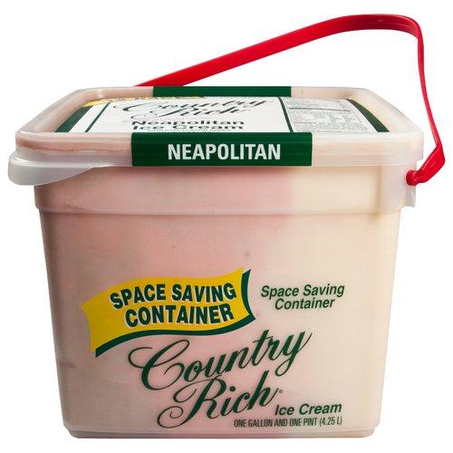 Country Rich Reduced Fat Neapolitan Ice Cream, 4.25 l