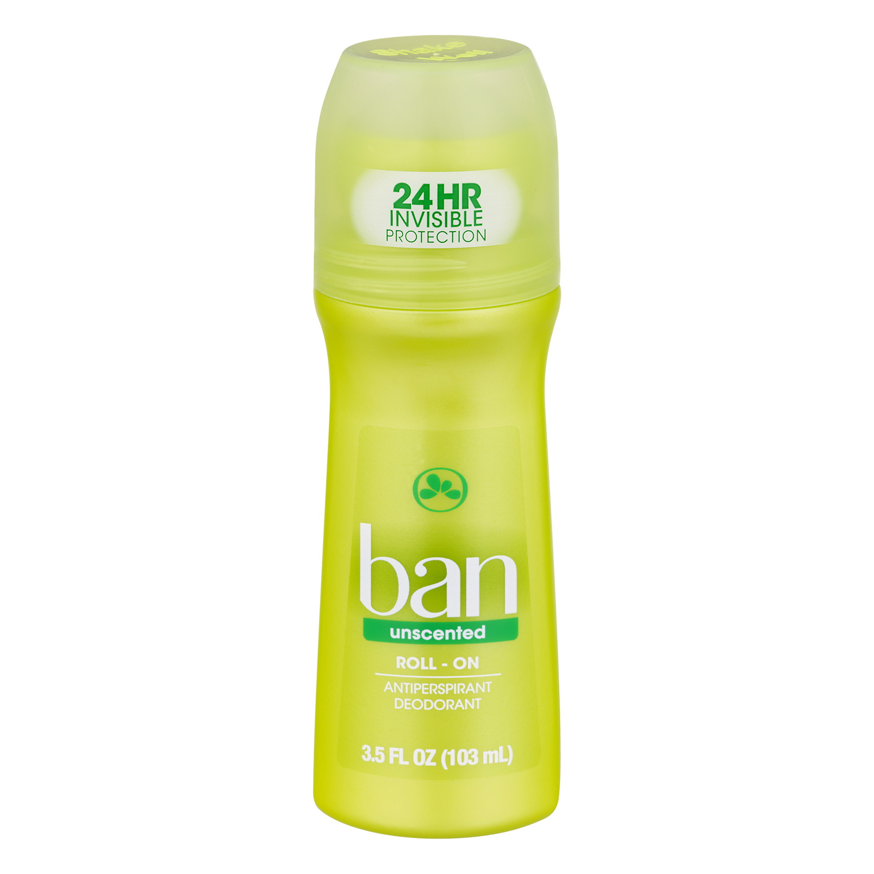 Ban Unscented Roll-On Antiperspirant Deoderant, 3.5 Fl Oz