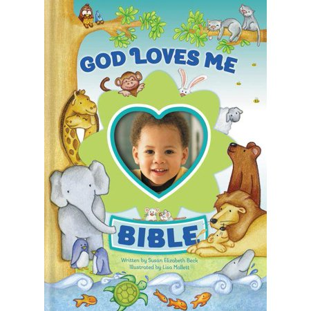 God Loves Me Bible, Newly Illustrated Edition: Photo Frame on Cover