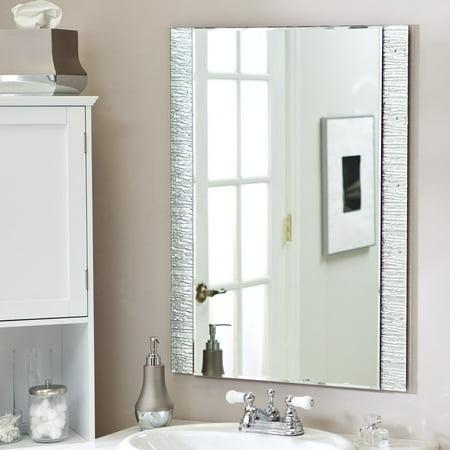 D cor wonderland frameless molten wall mirror 23 5w x 31 - Idee deco salle de bain ikea ...