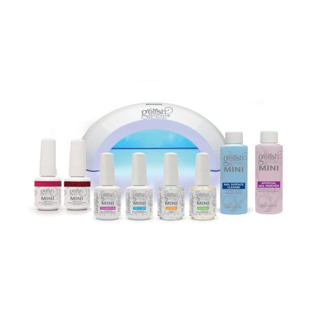 Gelish Mini Gel Soak Off Nail Polish Full Package Kit - Includes 2 Free Colors
