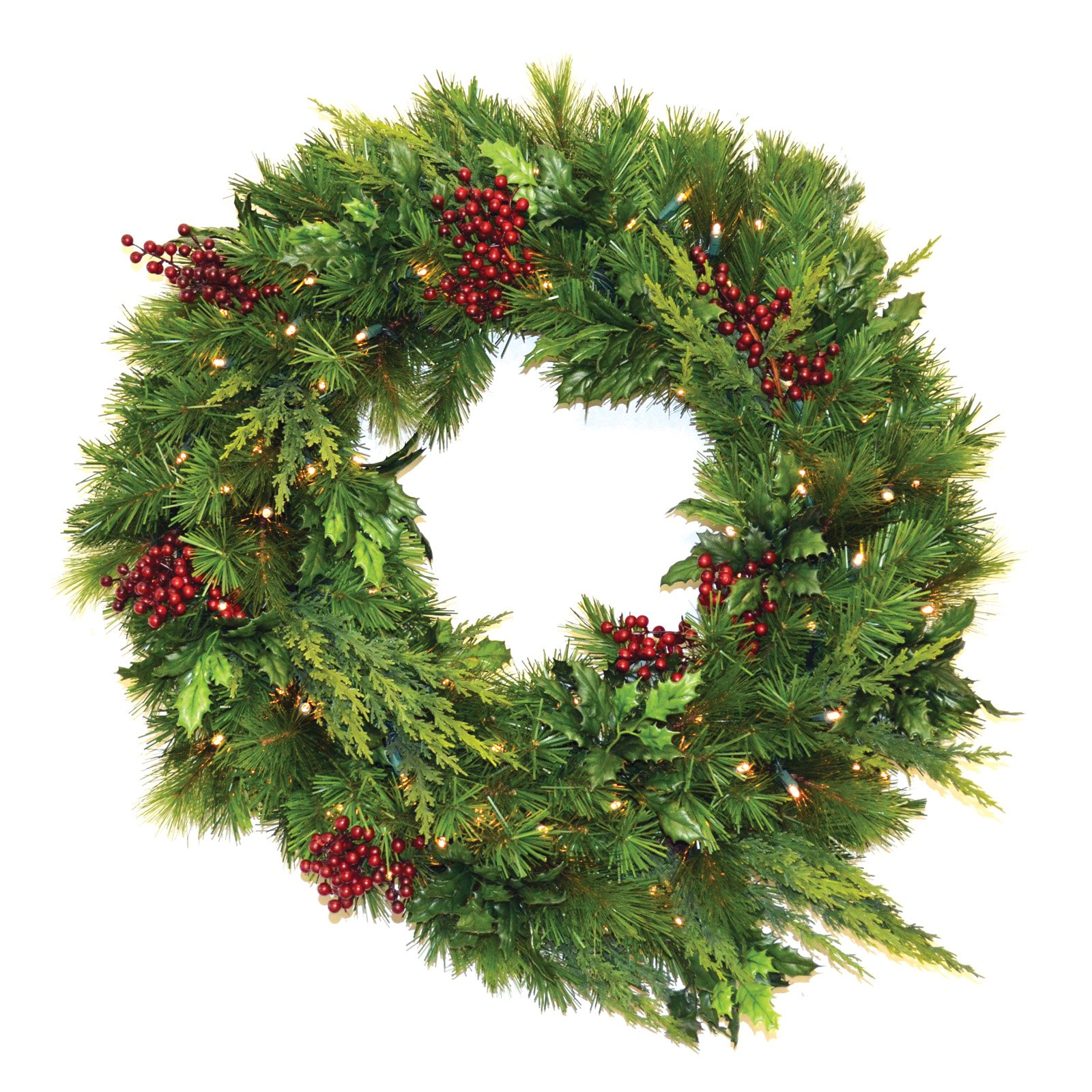 30 in. Estate Pre-lit LED Wreath - Battery Operated