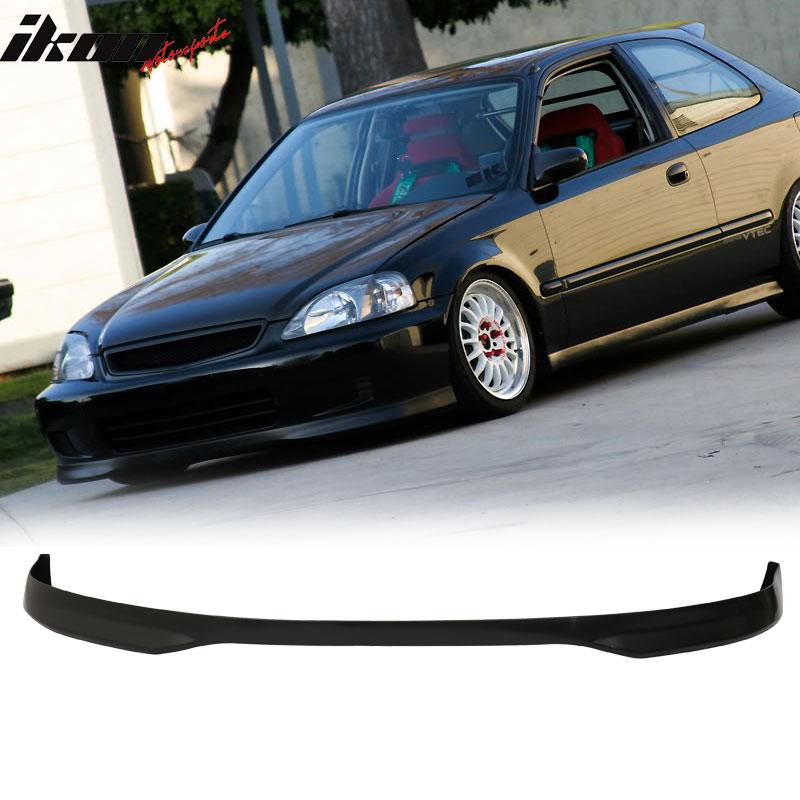 Fits 96-98 Civic 2Dr 3Dr 4Dr T-R Front Bumper Lip Unpainted Polypropylene PP