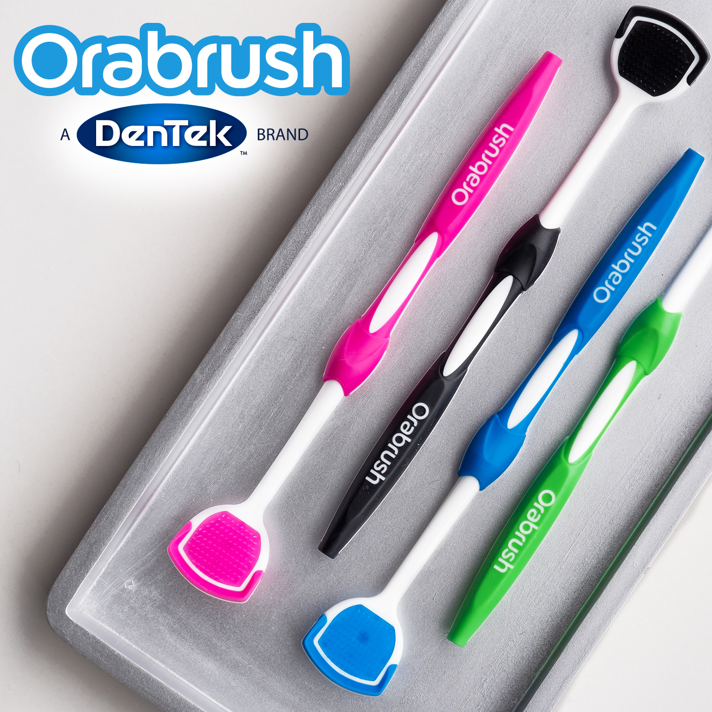 Orabrush Tongue Cleaner By Dentek Helps Fight Bad Breath 1 Count