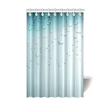 MOHome Beautiful Water Drop Shower Curtain Waterproof Polyester Fabric Size 48x72 Inches