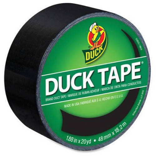 """Duck Brand 1.88"""" x 20 yd Colored Duct Tape, 3"""" Core, Black"""