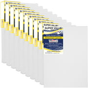 8 x 10 inch Super Value Quality Acid Free Stretched Canvas 10-Pack