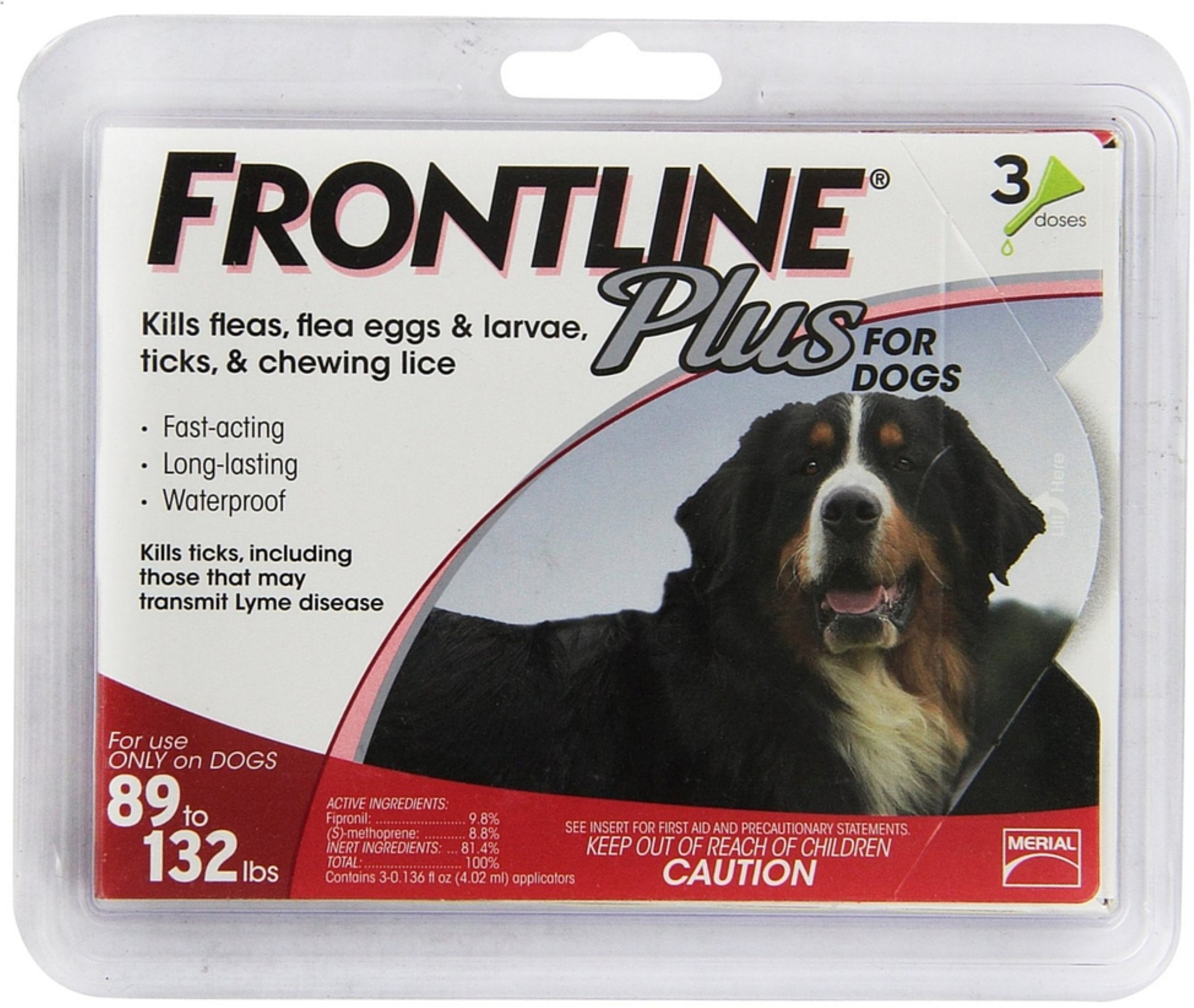 2 Pack Frontline Plus Flea & Tick Control For Extra Large Dogs, 89-132 lbs 3 ea by