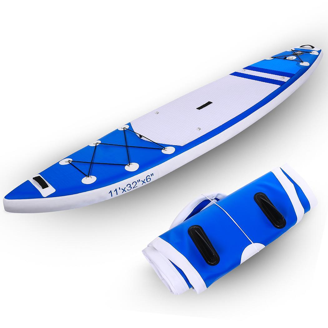 Ancheer 330lbs 10ft Blue Inflatable Stand Up Paddle Board (7 Inches Thick) Double-layer with Carry Bag ,Fins for Paddling, Non-Slip Deck Youth & Adult Hifahion