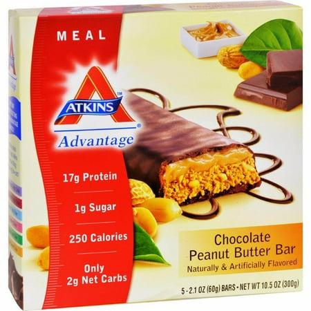 Advantage Peanut (Atkins Advantage Bar Chocolate Peanut Butter - 5)