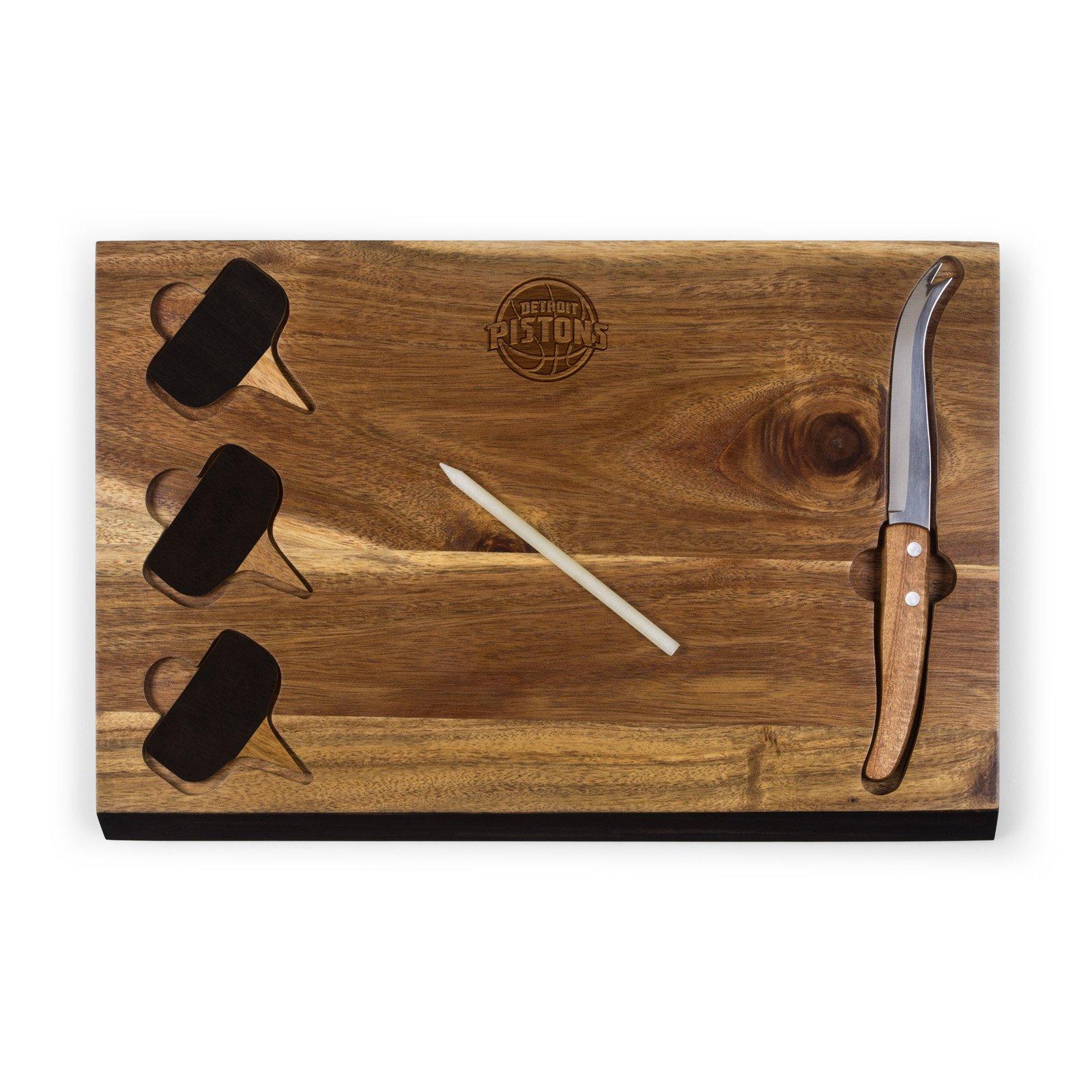 Picnic Time NBA Delio Acacia Cheese Board and Tools Set