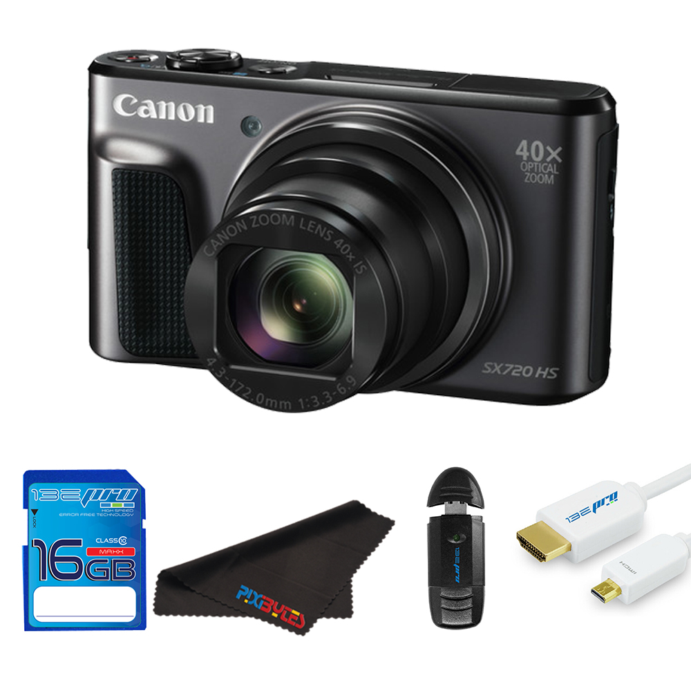Canon PowerShot SX720 HS Digital Camera + Sd Card + Pixi Starter Bundle Kit
