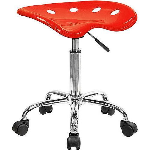 Adjustable Height Task Stool with Tractor Seat, Multiple Colors by Flash Furniture