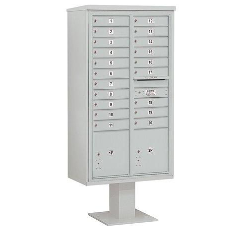 SALSBURY INDUSTRIES 3416D-20GRY Pedestal Mailbox,22 Doors,Gray,72 in. G2210181