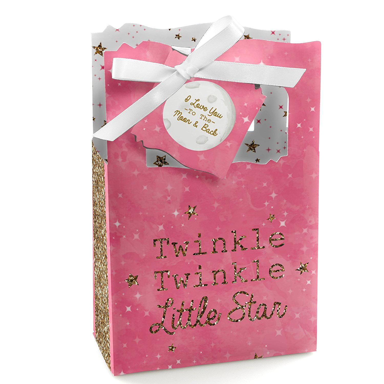 Twinkle little star favor box,Popcorn favor box,baby shower favor,Birthday party favor,blue favor box,pink favor box