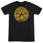 Sun Records Elvis Full Sun Records Label Mens Adult Heather Ringer Shirt